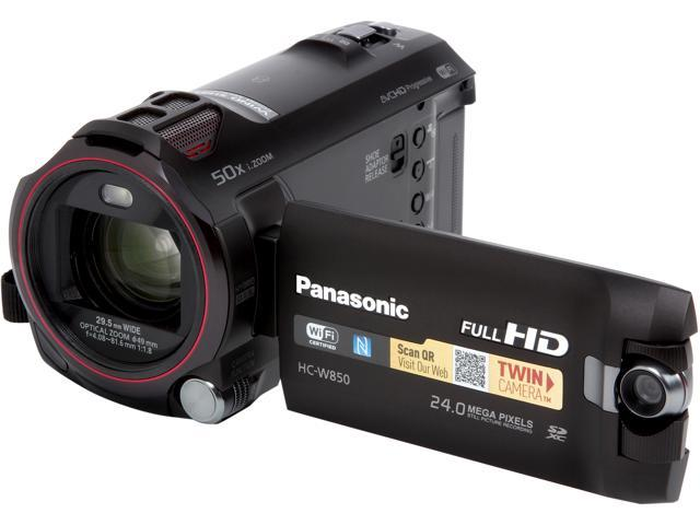 Panasonic W850 HC-W850K Black MOS 20X Optical Zoom Full HD HDD/Flash Memory Camcorder