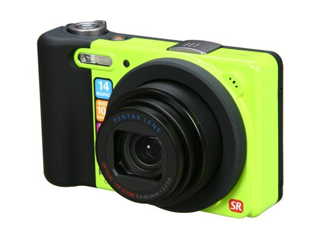 PENTAX Optio RZ10 Lime 14 MP 10X Optical Zoom 28mm Wide Angle Digital Camera