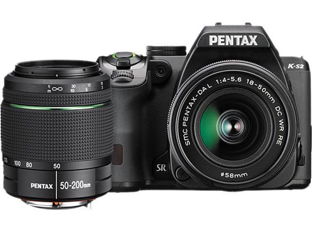 PENTAX K-S2 11610 Black 20.12 MP Digital SLR Camera With 18-50mm & 50-200mm Lenses