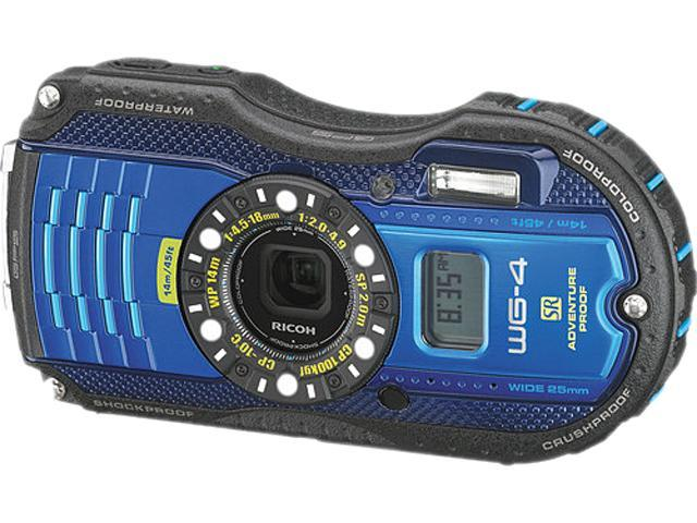 Ricoh WG-4 GPS 8557 Blue 16 MP 3.0