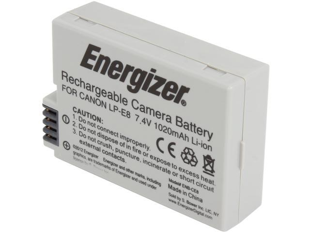 Energizer ENB-CE8 1-Pack 1020mAh Li-Ion Battery for Canon LP-E8