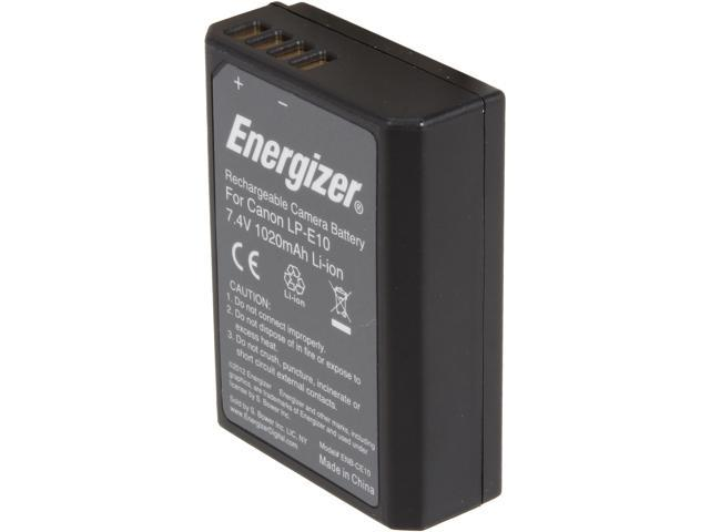 Energizer ENB-CE10 1-Pack 1020mAh Li-Ion Battery for Canon LP-E10