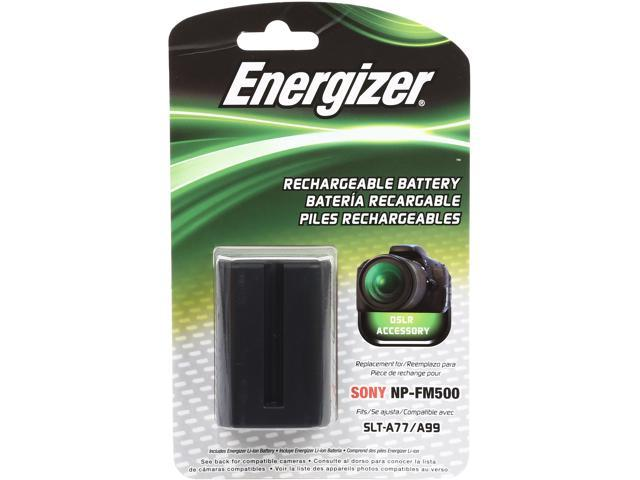 Energizer ENB-SFM500 1400mAh Li-Ion Battery replaces the NP-FM500H for Sony A57, A58, A65, A77, A99, A100, A200, A300, A850