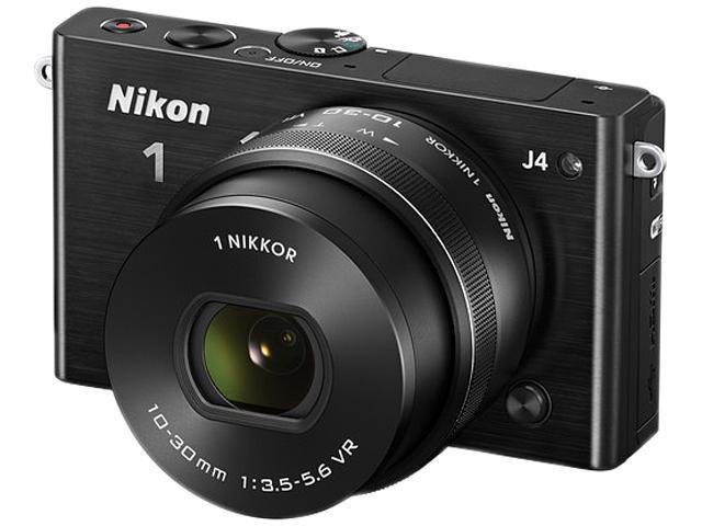 Nikon 1 J4 27683 Black 18.4MP 3.0