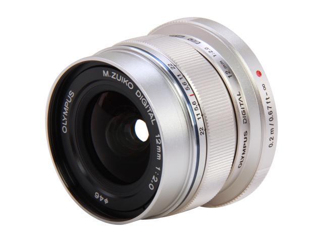 OLYMPUS V311020SU000 Compact ILC Lenses M. Zuiko Digital ED 12mm f2.0 Lens Silver