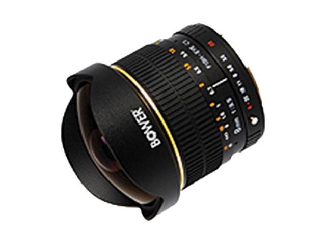 Bower SLY358N Ultra Wide-Angle 8mm f/3.5 Fisheye Lens for Nikon