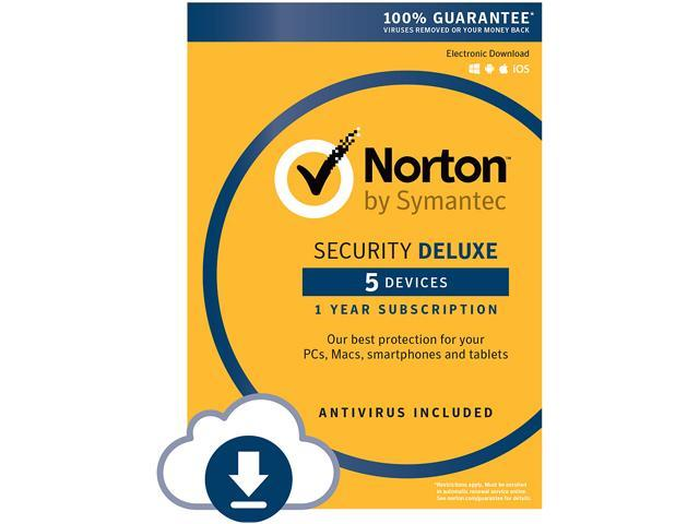 Symantec Norton Security with Antivirus Deluxe - 5 Device - Download