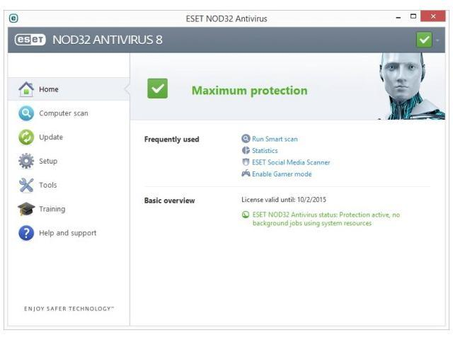 What properties does NOD32 Antivirus System offer?