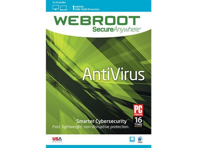 Webroot AntiVirus 2015 1 Year 1 Device PC