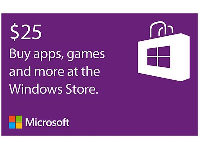 Microsoft Windows Store Gift Card - $25 (Email Delivery)