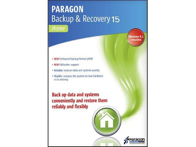 Paragon Backup & Recovery 15 Home 1 PC - Download