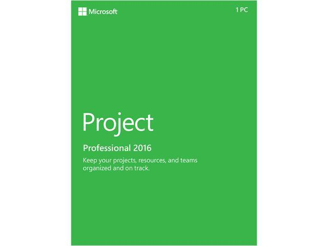 Microsoft Project Pro 2016 Product Key Card - 1 PC