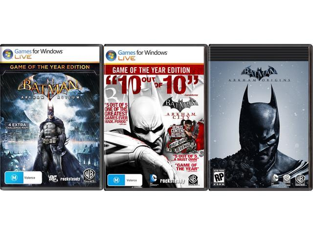 Batman Triple Pack for PC [Online Game Codes]