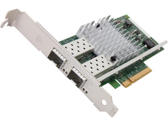 Intel X520-DA2 Dual Ports 10 Gigabit Ethernet Converged Network Adapter, PCI Express 2.0 x8, Low Profile