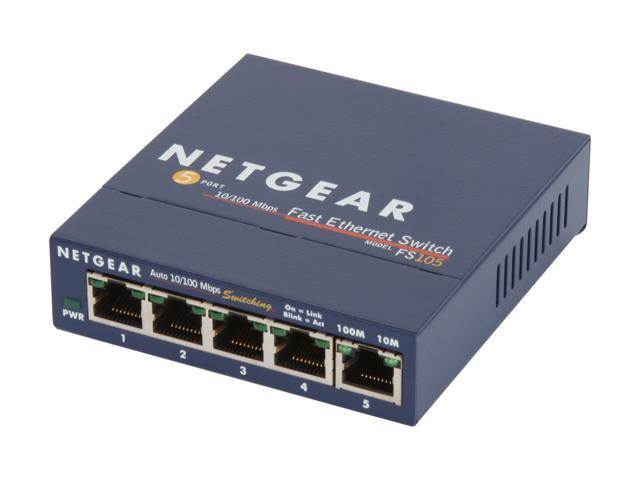 NETGEAR 5 Port 10/100 Business-Class Desktop Switch - Lifetime Warranty (FS105)