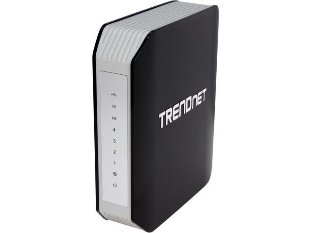 TRENDnet TEW-812DRU V2 AC1750 Dual Band Wireless Router - 4 Gigabit port, DD-WRT Open Source support