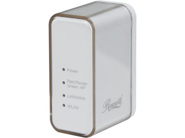 Rosewill RNX-TRT150RT, Wireless N150 Travel Router, IEEE 802.11b/11g/11n, Up to 150Mbps Wireless Data Rates, Portable Router