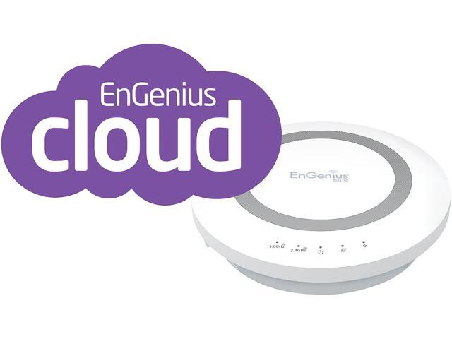 EnGenius ESR1200 Dual Band 2.4/5 GHz Wireless AC1200 Cloud Gigabit Router with USB Port and EnShare