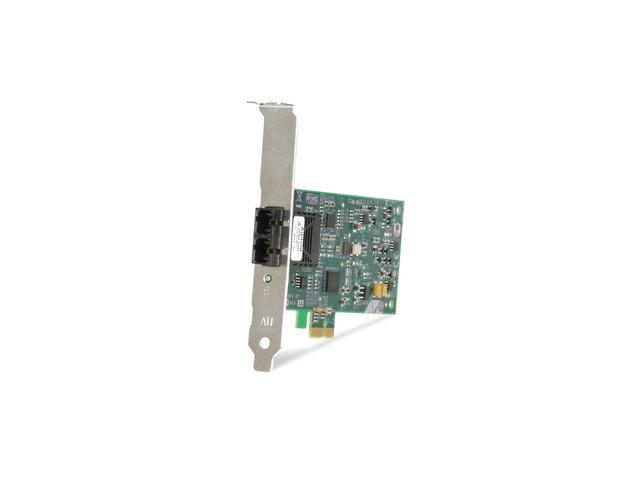 Allied Telesis AT-2711FX/SC-901 Fiber 100Base-FX Network Adapter 10/ 100Mbps PCI Express x1 1 x SC 100Base-FX
