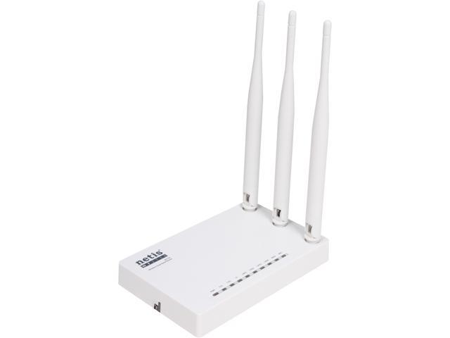 NETIS WF2710 Wireless AC750 Dual Band Router Repeater Client All in One with Triple 5 dBi High Gain Antennas