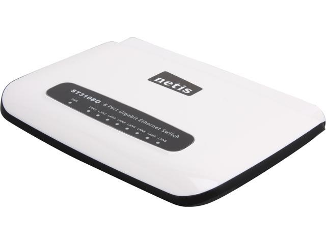 NETIS ST3108G Unmanaged 8 Port Gigabit Ethernet Desktop Switch