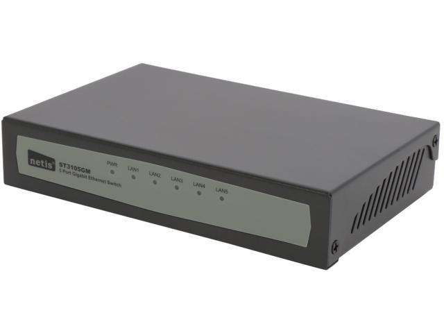 NETIS ST3105GM Unmanaged 5 Port Gigabit Ethernet Switch