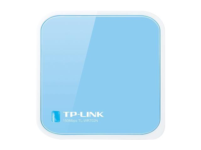 TP-LINK TL-WR702N Wireless N150 Travel Router, Nano Size, Multifunction, 150Mbps