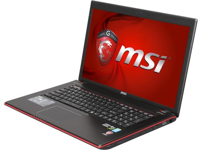 MSI GE Series GE70 2OE-017US Gaming Notebook Intel Core i7 4700MQ (2.40GHz) 12GB Memory 750GB HDD NVIDIA GeForce GTX 765M 2GB GDDR5 17.3