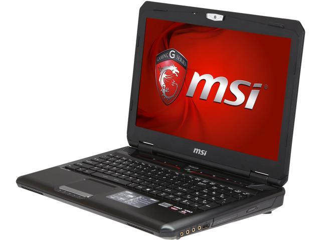 MSI GX Series GX60 3BE-240US Notebook AMD A-Series A10-5750M (2.50GHz) 8GB Memory 750GB HDD AMD Radeon HD 8970M 2GB GDDR5 15.6