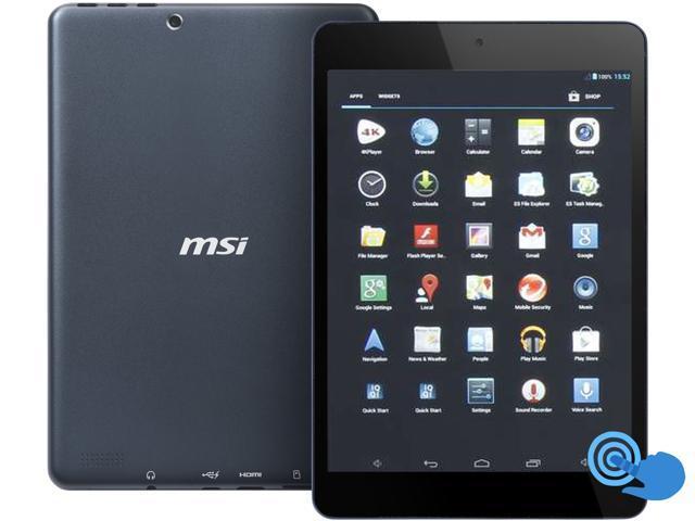 "MSI Primo 81 Android Tablet - 7.85"" Touchscreen Quad-core CPU 1GB RAM 16GB Flash (Black)"