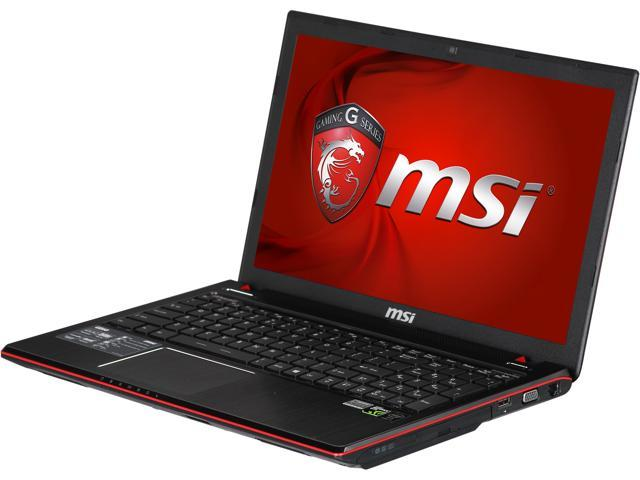 MSI GE Series GE60 Apache-033 Gaming Notebook Intel Core i7 4700HQ (2.40GHz) 8GB Memory 1TB HDD NVIDIA GeForce GTX 850M 2GB 15.6