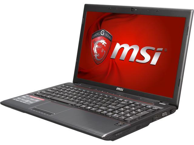 MSI GP Series GP60 Leopard-472 (9S7-16GH11-472) Gaming Laptop Intel Core i7 4710HQ (2.50GHz) 8GB Memory 1TB HDD NVIDIA GeForce GT 840M 2GB 15.6