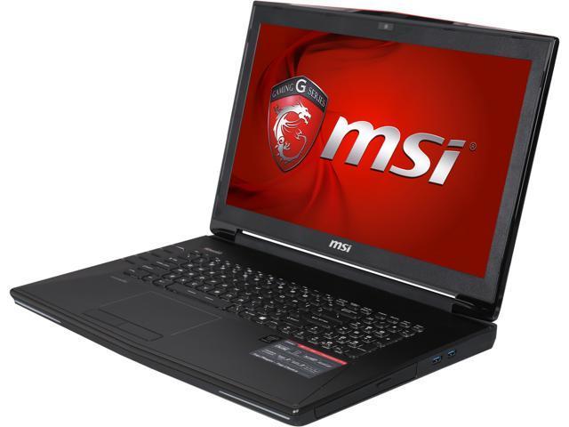 MSI GT Series GT72 Dominator Pro-208 Gaming Laptop Intel Core i7 4710HQ (2.50GHz) 32GB Memory 1TB HDD 128 GB M.2SATA SSD x 4 RAID 0 ...