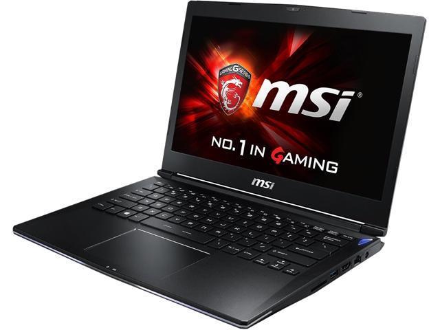 MSI GS Series GS30 Shadow-045 Gaming Laptop Intel Core i7 4870HQ (2.50GHz) 16GB Memory 256GB SSD Intel Iris Pro Graphics 5200 Shared memory 13.3
