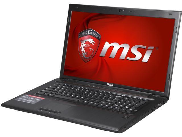 MSI GP Series GP70 Leopard-490 Gaming Laptop 4th Generation Intel Core i5 4210H (2.90GHz) 8GB Memory 1TB HDD NVIDIA GeForce 940M 2GB 17.3