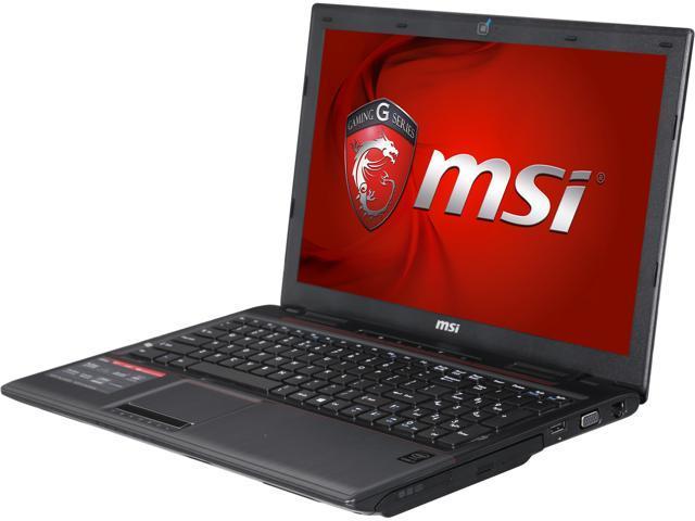 MSI GP Series GP60 Leopard Pro-825 Gaming Laptop Intel Core i7 4720HQ (2.60GHz) 8GB Memory 1TB HDD NVIDIA GeForce GTX 950M 2GB 15.6