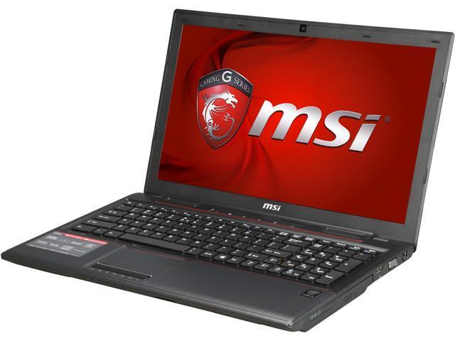 MSI GP Series GP60 Leopard-1053 Gaming Laptop 4th Generation Intel Core i5 4210H (2.90GHz) 8GB Memory 750GB HDD NVIDIA GeForce GTX 950M 2 GB ...