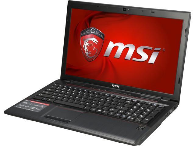 MSI GP Series GP60 Leopard-010 Gaming Laptop Intel Core i5 4210H (2.90GHz) 8GB Memory 750GB HDD NVIDIA GeForce 840M 2GB 15.6