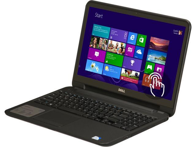 "DELL Laptop Inspiron i15RV-6143BLK Intel Pentium 2127U (1.90 GHz) 4 GB Memory 500 GB HDD Intel HD Graphics 15.6"" Touchscreen ..."