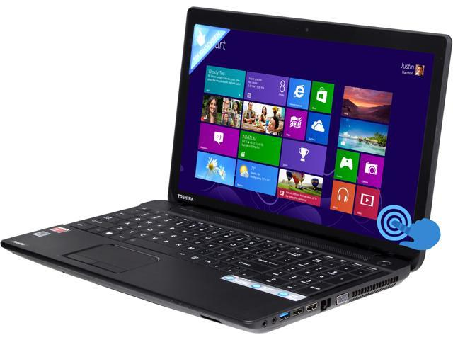 TOSHIBA Satellite C55Dt-A5148 Notebook AMD A-Series A4-5000 (1.50GHz) 4GB Memory 750GB HDD AMD Radeon HD 8330 15.6