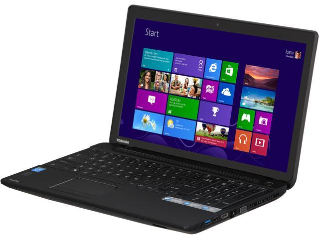 TOSHIBA Laptop C55T-A5123 Intel Celeron N2820 (2.13GHz) 4GB Memory 500GB HDD Intel HD Graphics 15.6