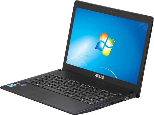 ASUS X401URF-EBL4 Notebook AMD Dual-Core Processor E1-1200 (1.4GHz) 4GB Memory 320GB HDD AMD Radeon HD 7310 14.0