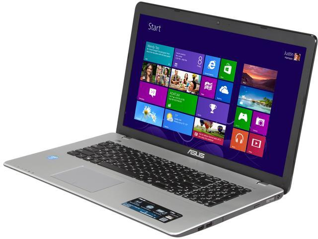ASUS X750JA-DB71 Notebook Intel Core i7 4700HQ (2.40GHz) 8GB Memory 1TB HDD Intel HD Graphics 4600 17.3