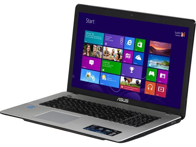 ASUS Laptop X750JA-DB71 Intel Core i7 4700HQ (2.40GHz) 8GB Memory 1TB HDD Intel HD Graphics 4600 17.3