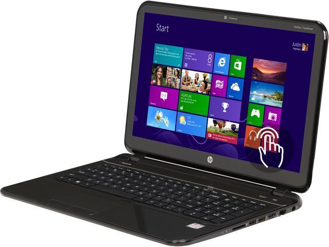 HP TouchSmart 15-b153nr Sleekbook AMD A-Series A8-4555M (1.60GHz) 6GB Memory 750GB HDD AMD Radeon HD 7600G 15.6