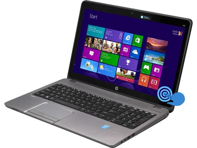 HP ProBook 450 G1 (F2P38UT#ABA) Notebook Intel Core i3 4000M (2.4GHz) 4GB Memory 500GB HDD Intel HD Graphics 4600 15.6