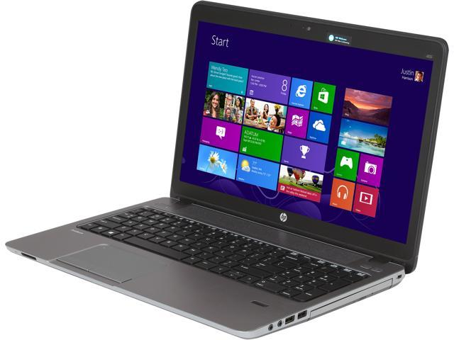 HP ProBook 455 G1 (F2P93UT#ABA) Notebook AMD A-Series A6-5350M (2.90GHz) 4GB Memory 500GB HDD AMD Radeon HD 8450G 15.6