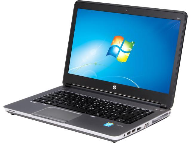 HP ProBook 640 G1 (F2R42UT#ABA) Notebook Intel Core i5 4200M (2.5GHz) 4GB Memory 500GB HDD Intel HD Graphics 4600 14.0