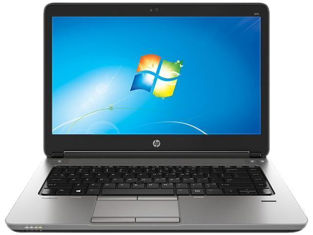 HP ProBook 645 G1 (F2R11UT#ABA) Notebook AMD A-Series A6-5350M (2.90GHz) 4GB Memory 500GB HDD AMD Radeon HD 8450G 14.0