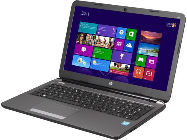 HP Laptop 250 G3 G4U98UT#ABA Intel Celeron N2815 (1.86GHz) 2GB Memory 320GB HDD Intel HD Graphics 15.6